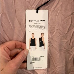 All yoga central tank BRAND NEW